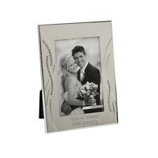Photo Frame 8×10 Diamante Edge Metal Engraved Picture Holder Wedding Couple Gift