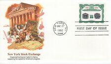 1992 Commemorative New York Stock Exchange 200Th Fleetwood Cachet & Story Ua Fdc