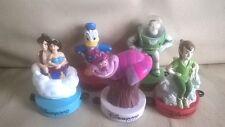 lot 5 figurines disney mc donald's tampon(donald,buzz,alice,aladin et jasmin etc