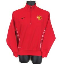 Nike Men's Xs Red Therma Fit Manchester United 1/4 Zip Pullover Jacket Euc