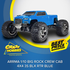 ARRMA 1/10 Big Rock Crew Cab 4x4 3S BLX BLUE NEW VERSION (ARA102723) RTR