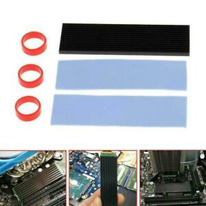 M.2 NGFF NVMe 2280 PCIE SSD Aluminum Cooling Heat Sink Pad Thermal With Sale