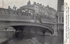 Guildford Great Storm 1906 damage Town Bridge unused old pc Surret Times Bradden