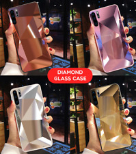 Tempered Diamond Back Mirror Cover Case For Samsung Galaxy S20 S10 All Series A
