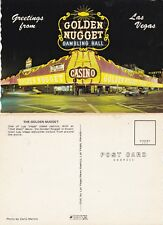 GOLDEN NUGGET GAMBLING HALL LAS VEGAS UNUSED ADVERTISING COLOUR POSTCARD (a)