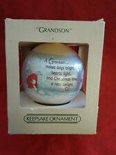 1982 Hallmark Grandson Christmas Ornament Bunny Rabbit
