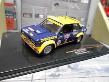 FIAT 131 Abarth Rallye San Remo 1977 WM #5 Röhrl Pitz Olio Cinzano NEU IXO 1:43