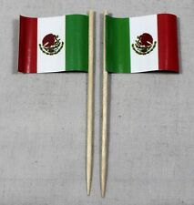 Party-Picker Mexiko 50 Stk. Dekopicker Profiqualität Papierfähnchen Flagge Food