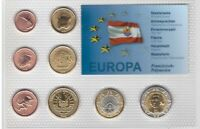 FRENCH POLYNESIA 8 DIF UNC SET EURO 2008 YEAR PATTERN ESSAI PROVA