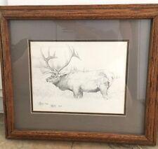 "Scott Kennedy Limited Edition Signed Print ""WAPITI"" Elk  Print 1982"