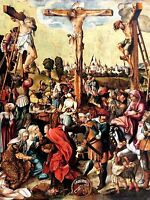 ART PRINT POSTER PAINTING GROUP PORTRAIT CRUCIFIXION CROSS JESUS NOFL0764