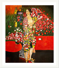 The Dancer by Gustav Klimt 75cm x 62.5cm Framed White