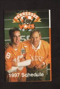 Tennessee Volunteers--Manning--Fulmer--1997 Football Schedule--Golden Flake