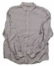 The Men's Store Dusty Clay Beige Linen L/S Button Front Shirt in Large MSRP $108