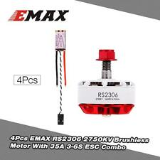 4pcs Best EMAX RS2306 2750KV White Race Special Edition Motor and 35A ESC B2C4