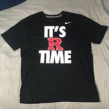 New listing Nike It's R Time Rutgers T Shirt Men's XL Short Sleeve Black Regular Fit Cotton
