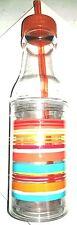 Mainstays 16oz. Double Wall Bottle w/Easy Open Split Top BPA Free Plastic Stripe