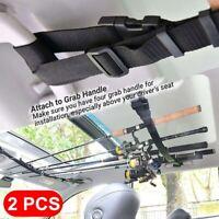 2pcs Convenient Car Fishing Rod Saver Vehicle Rod Carrier Rod Holder Belt Strap