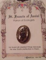 St. Francis of Assisi - Patron Saint of Ecologists - Patron Saint Lapel Pin