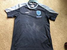 England National Team Youth Size Medium Black Grey Unbro Soccer Jersey