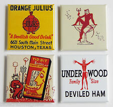 Devil Food FRIDGE MAGNET Set (1.5 x 1.5 inches each)