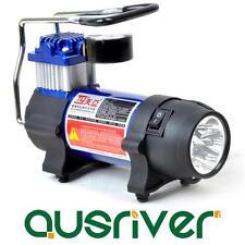 Portable Car Air Compressor Gauge Bike Ball Tyre Inflator Pump 5 LED Dual Power
