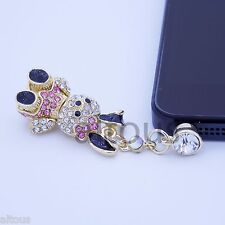 ANTI DUST PLUG CHARM DIAMOND BUNNY FOR APPLE SAMSUNG HTC MOTOROLA HUAWEI ZTE