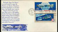 1569-1570 Apollo Soyuz Pair BAZAAR Cachet UA First Day Kennedy Space Ctr LOT 921