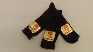 Vtg 3 Pr Lot Hanes Red Label Dress/Casual Socks BROWN Sz 10-13 Acrylic/Nylon