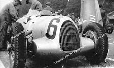 """AUTO Union Tipo C Muller dell'auto sulla griglia 10x7"""" PHOTO DONINGTON GP 1937"""