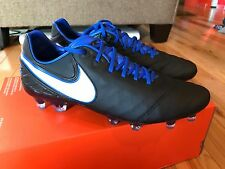 NIKE TIEMPO LEGEND VI FG BLACK WHITE GAME ROYAL 819177-014 MEN'S SIZE 8