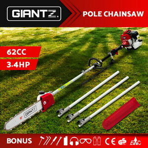 Giantz 62CC Pole Chainsaw Petrol Chain Saw Brush Cutter Brushcutter Tree
