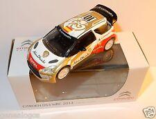 NOREV 3 INCHES 1/54 CITROEN DS3 WRC 2013 RALLYE ABU DHABI 10 LOEB SORDO HIRVONEN