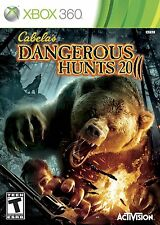 XBOX 360 gioco CABELAS CABELA 'S DANGEROUS HUNTS 2011 11 Merce Nuova