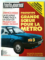 L'AUTO-JOURNAL n°19 de 11/1981 La renault 5 Alpine face Golf GTI/ Pub Hallyday