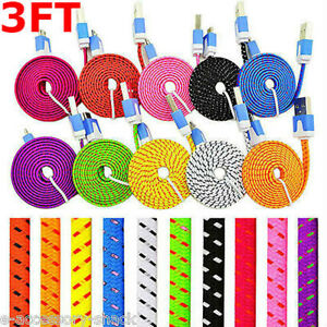 10x Fast Charge Braided Micro USB Cable Cord For Galaxy S7 S6 LG Stylo 3 2 V10