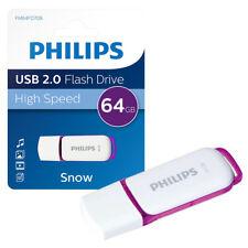 NEW 64GB Philips Snow Series USB 2.0 Flash Key Drive USB Memory Stick 64GB