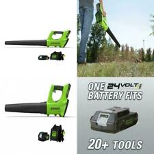 Greenworks 24V Cordless Jet Blower with  2.0 AH Battery & Charger  ~ Brand New