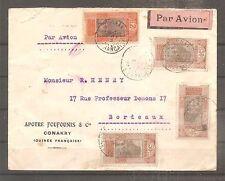LETTRE GUINEE CONAKRY PAR AVION POUR LA FRANCE OBLITERE 1929