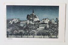 30036 AK Dohna bei Pirna Häuser, Kirche bei Nacht, 1923, Infla-Briefmarke 800Tsd