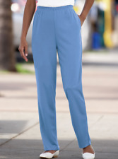 NWT BLAIR Plus 36W Blue Ponte Pants w/ Pockets Style #B12162 Polyester Knit