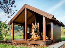 Hundehütte Hundehaus *Baster* 200x120x140cm Vollisolierte Echtholz