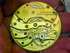 Swiss Ulysse Nardin 42.9MM Open Face Pendantset Gilt Movement