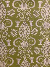 Michael Miller Lite Green With White Swirls Cotton Fabric One Yard. 1 Yd
