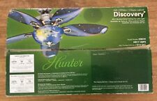 Hunter Discovery 48 in. Brushed Nickel Ceiling Fan Light Fixture In Original Box