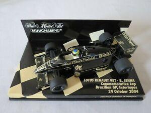 Bruno Senna Lotus Renault 98T Commemorative Lap Brazilian GP 2004 Ayrton 1:43