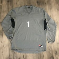 Team Nike Dri Fit Soccer Goalie Shirt Mens Xl Gray Elbow Padding Swoosh #1
