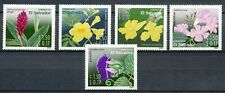 EL SALVADOR 2003 - 5 BEAUTIFUL FLOWERS (From Flower/Insects set) MNH       Hk965