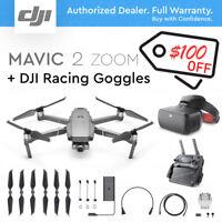 DJI MAVIC 2 ZOOM with 2x Optical ZOOM + Dolly Zoom. + DJI Racing Goggles.