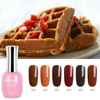 RS NAIL UV LED Gel Nail Polish Varnish Brown Caramel Colour